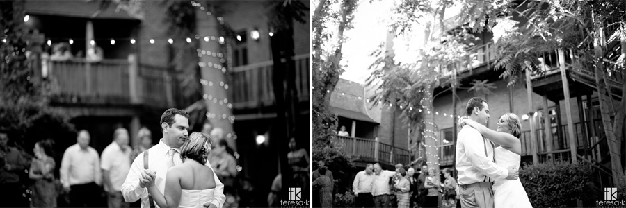 first dance at the courtyard d'Oro in Sacramento