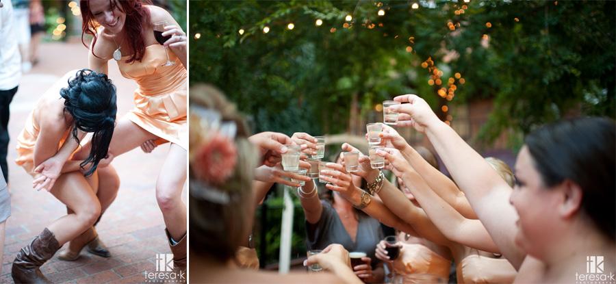 fun reception by Sacramento wedding photographer