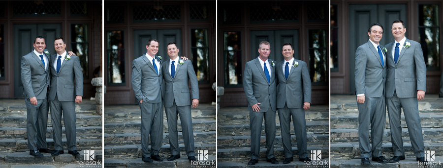 groomsmen in fitted suits