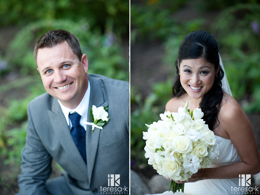 bride and groom at the hellman-erhman mansion