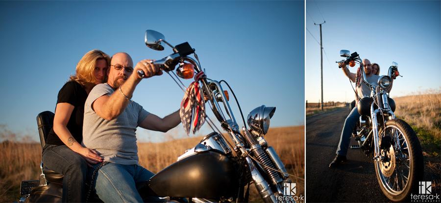 biker photographer for engagement pics