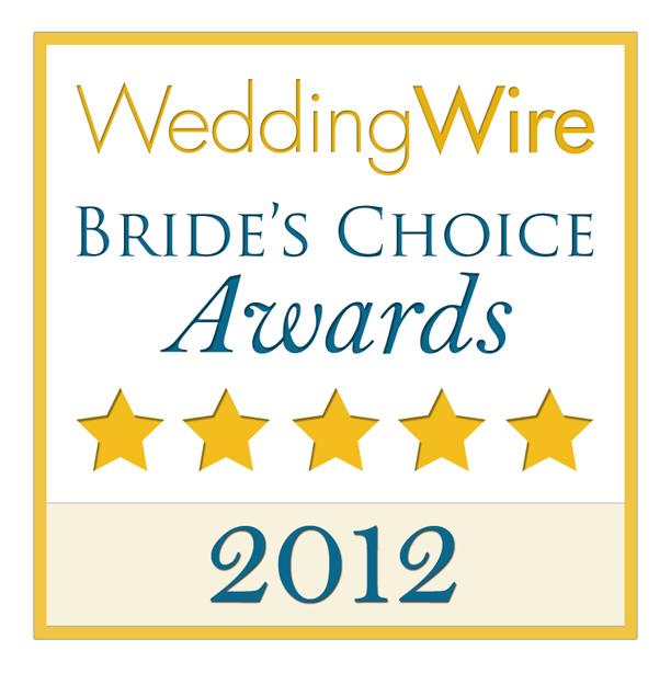 2012 Bride's choice award winner for Sacramento wedding photography Teresa K photography