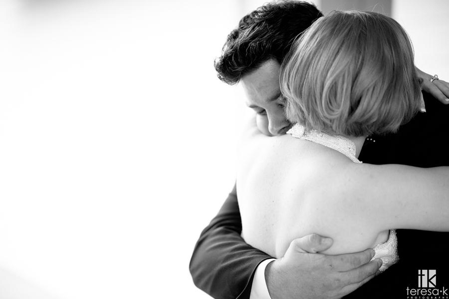 touching wedding photos
