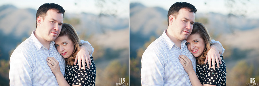 gorgeous end of day images of engaged couple