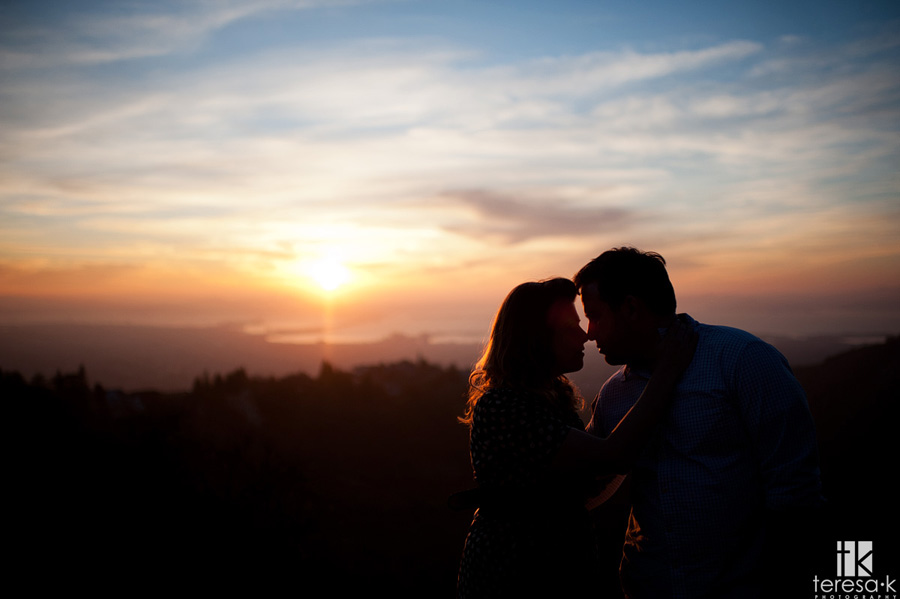silhouette image from engagement