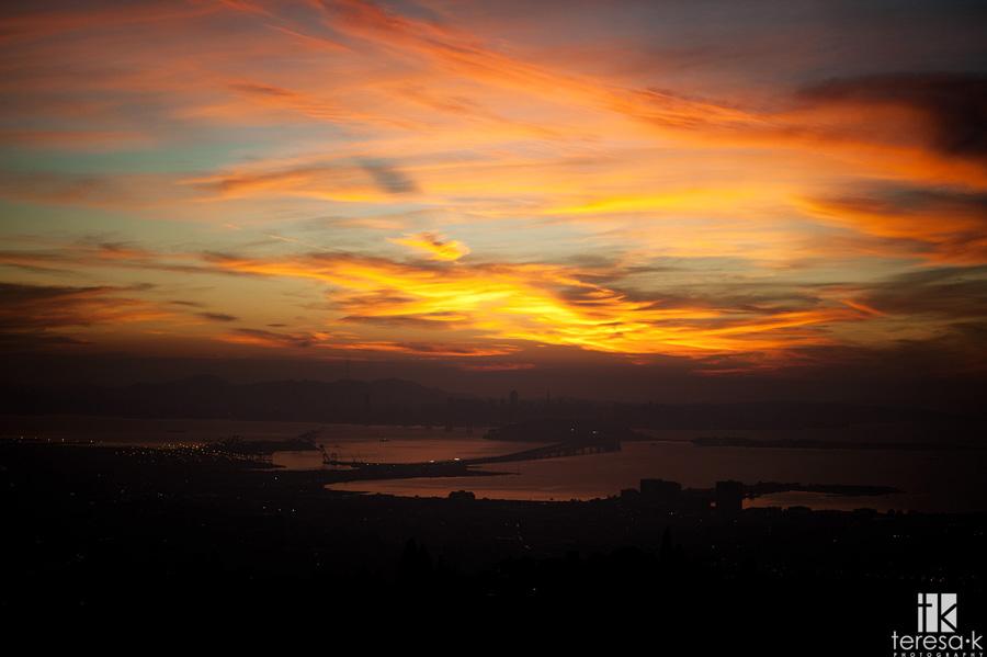 Oakland Bay sunset