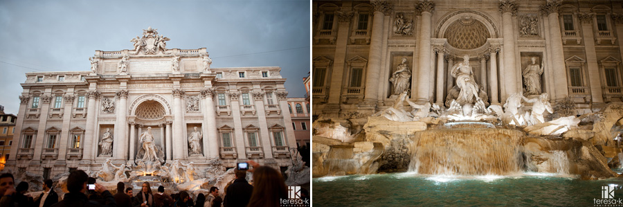 image of the Trevi Fountain at twilight