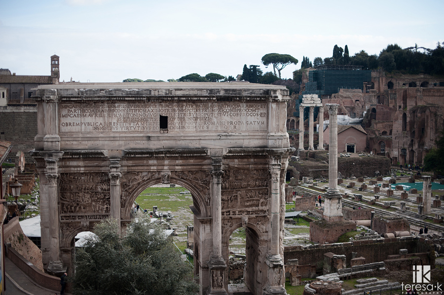 the roman forum in Italy
