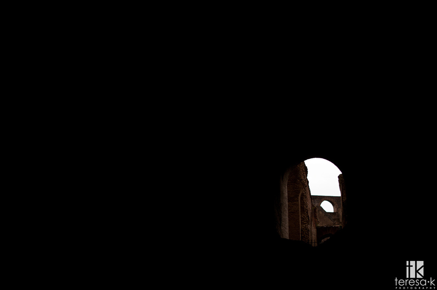 images from inside the coliseum in Rome Italy