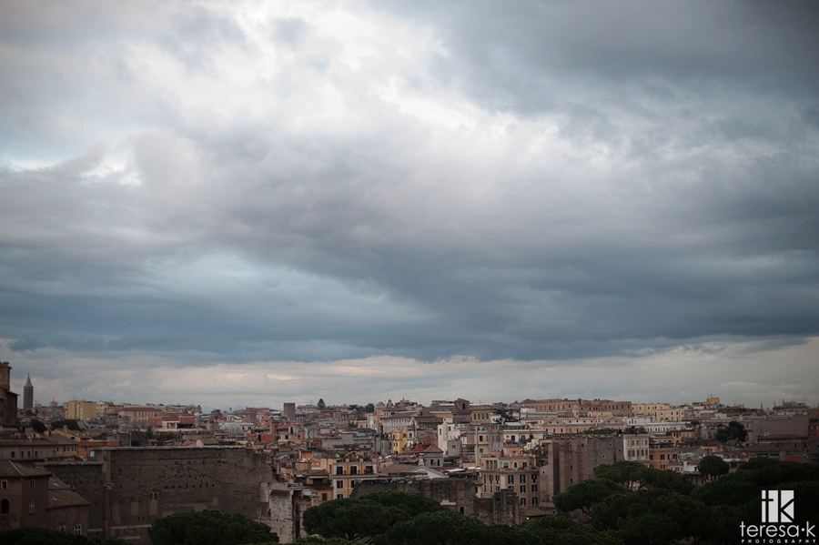 skyline view of the city of Rome