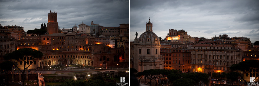 images of downtown roma at night