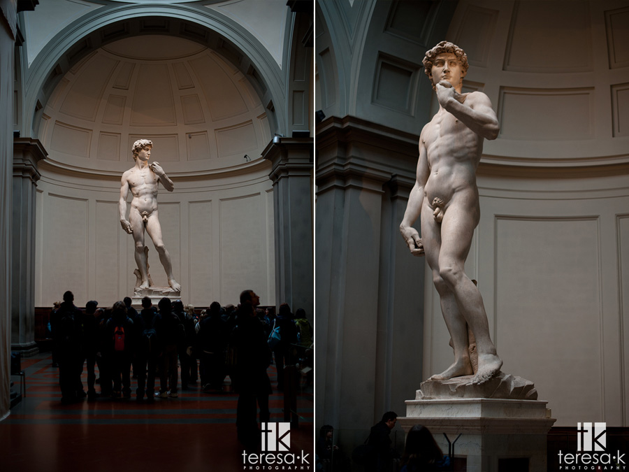 the David at the academia in Italy
