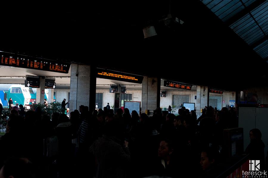 the Italian train station