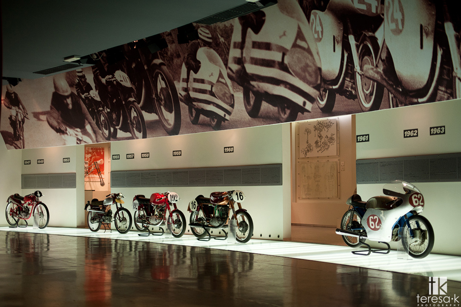 image from the interior of the Ducati museum