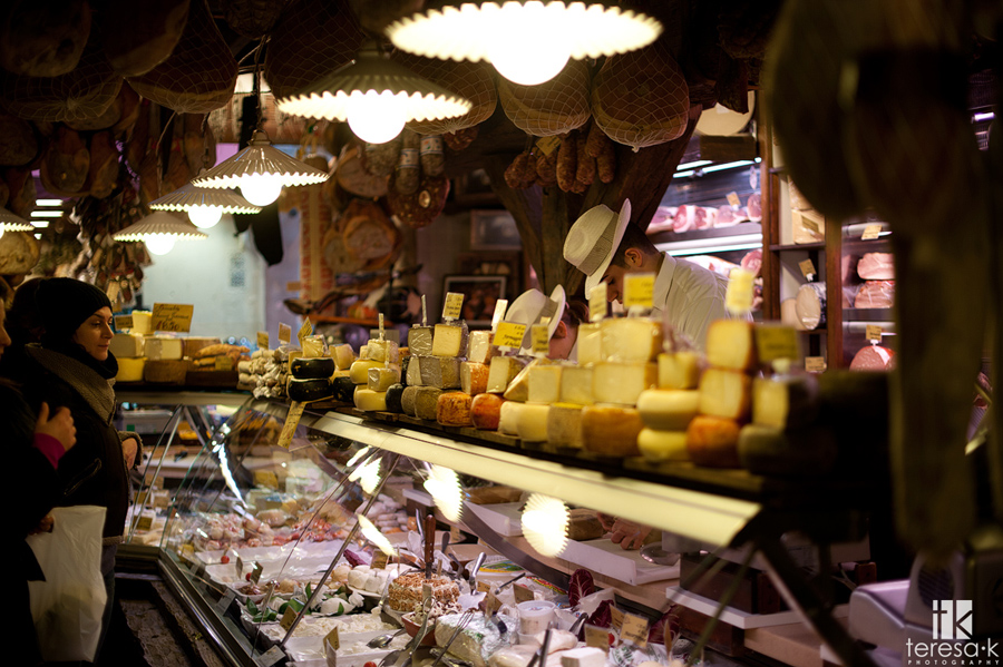 authentic meat and cheese shop in bologna Italy