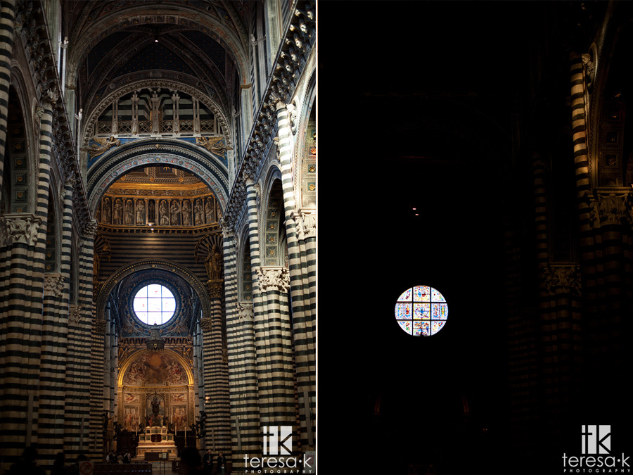 interior of the duomo in sienna Italy