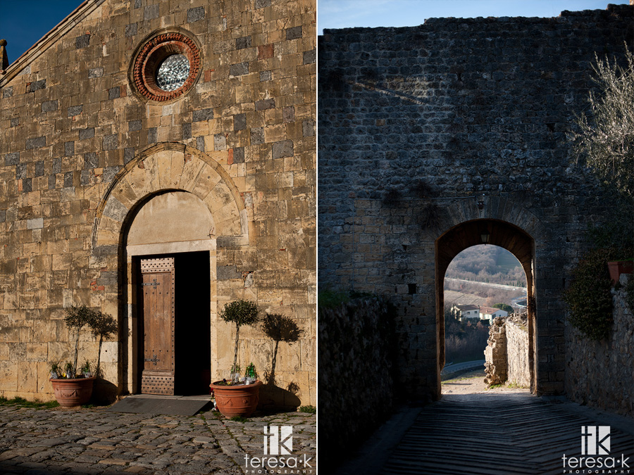 interior of the walled city on the Tuscan countryside