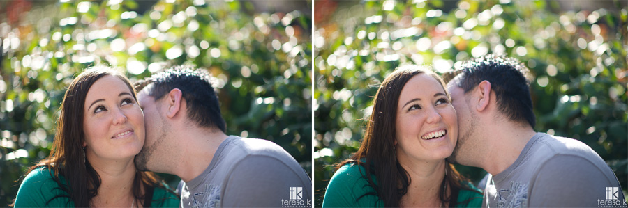 Sacramento engagement portrait at the park