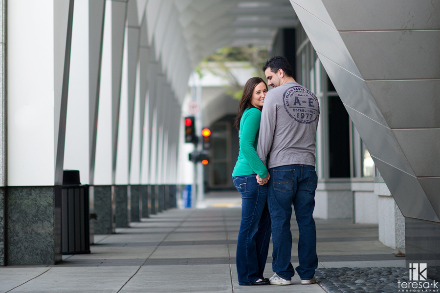 downtown Sacramento engagement picture
