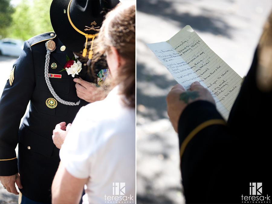 war veteran wedding at oak Leigh gardens
