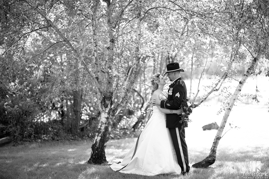 army wedding in Sacramento