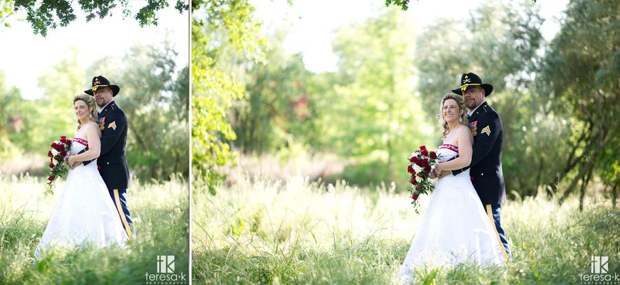outdoor wedding portraits in Sacramento