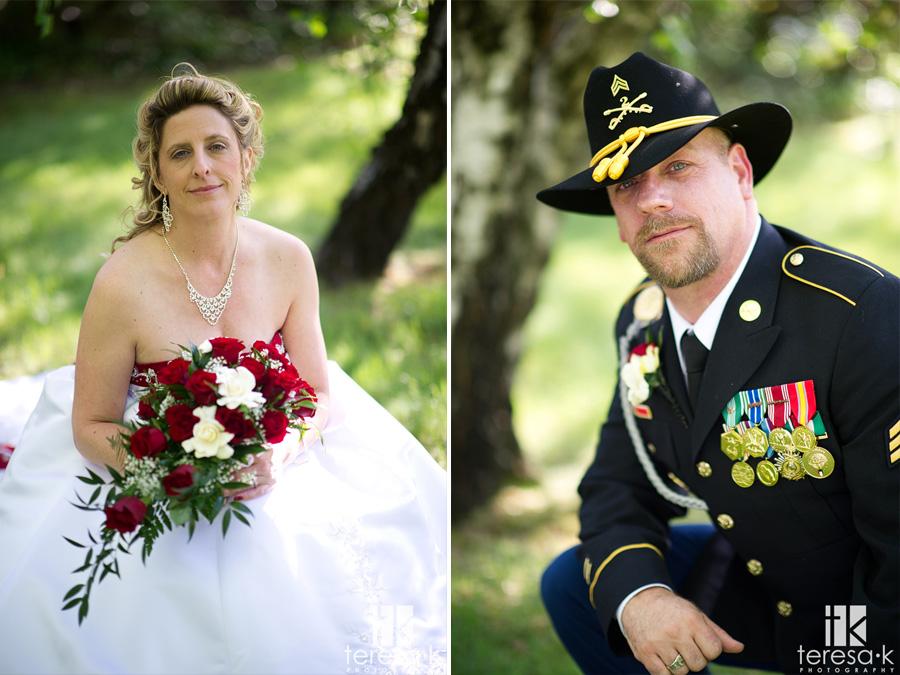 groom in a uniform