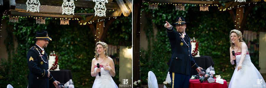 happy bride at reception