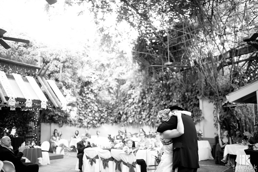 bride and grooms dance