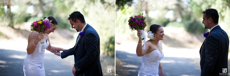 wedding at Folsom lake