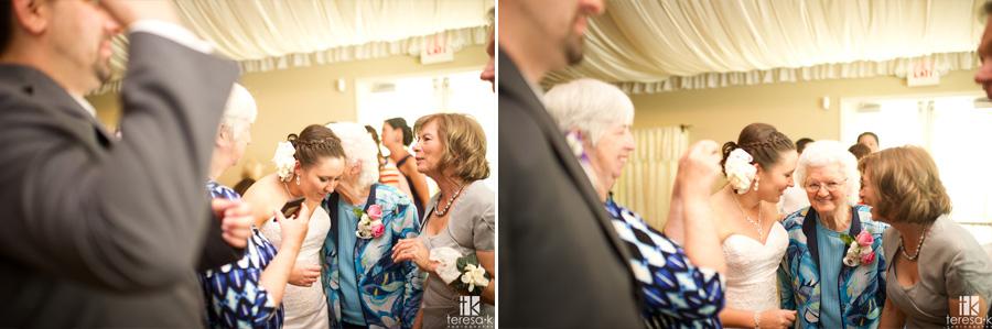 girls gossiping at reception