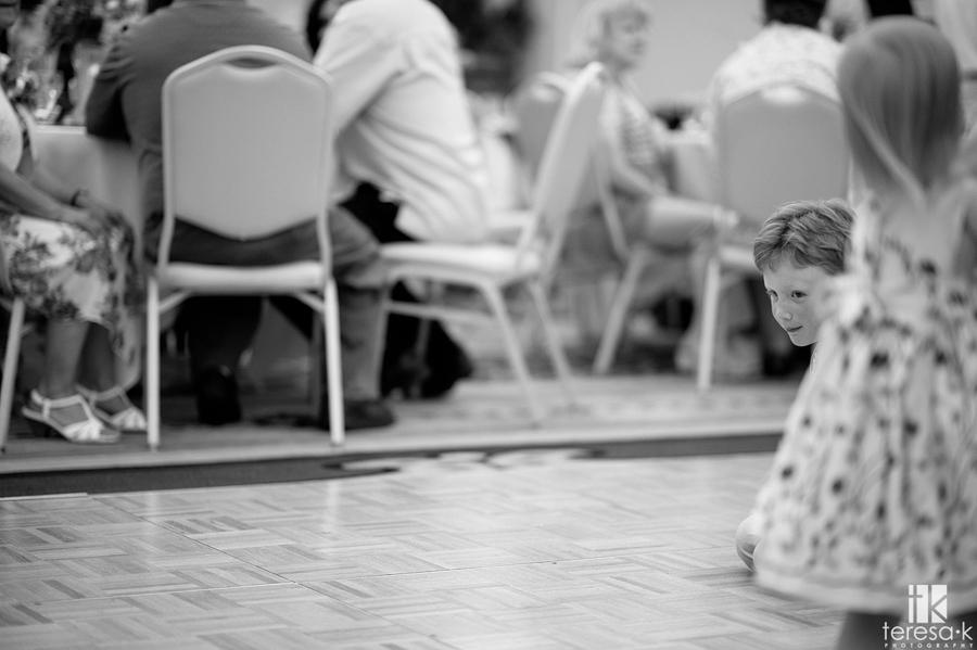kids on the dance floor at wedding