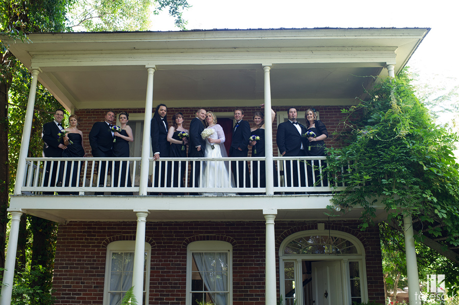 bridal party at the heirloom inn