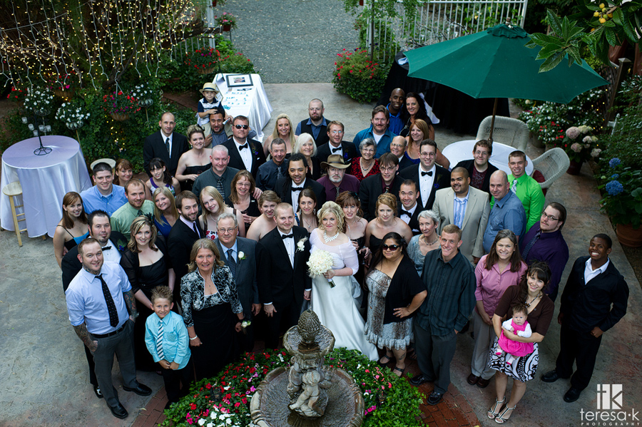 image of every guest at wedding