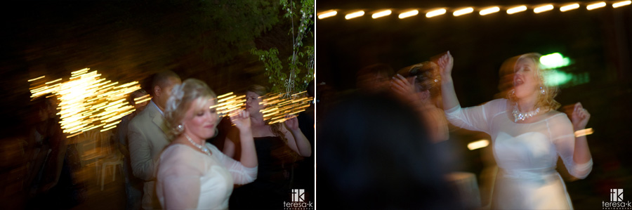 nighttime wedding reception dance floor