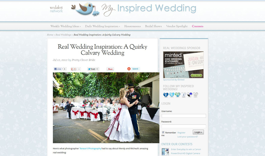 Sacramento wedding photographers with online features