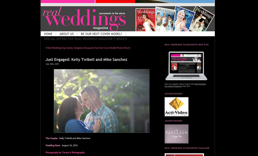 Sacramento Real Weddings Online Exclusive Feature