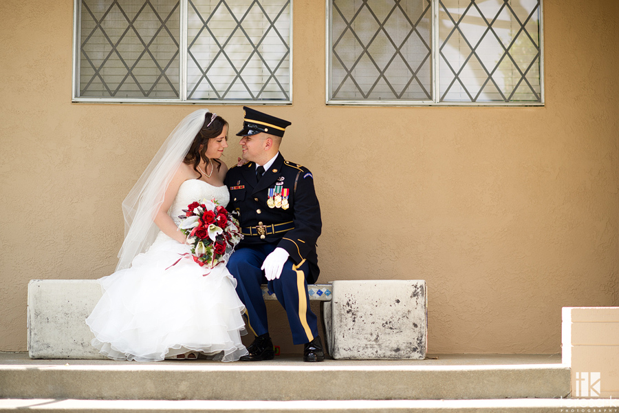 bride and groom portraits in St John the Baptist Folsom church