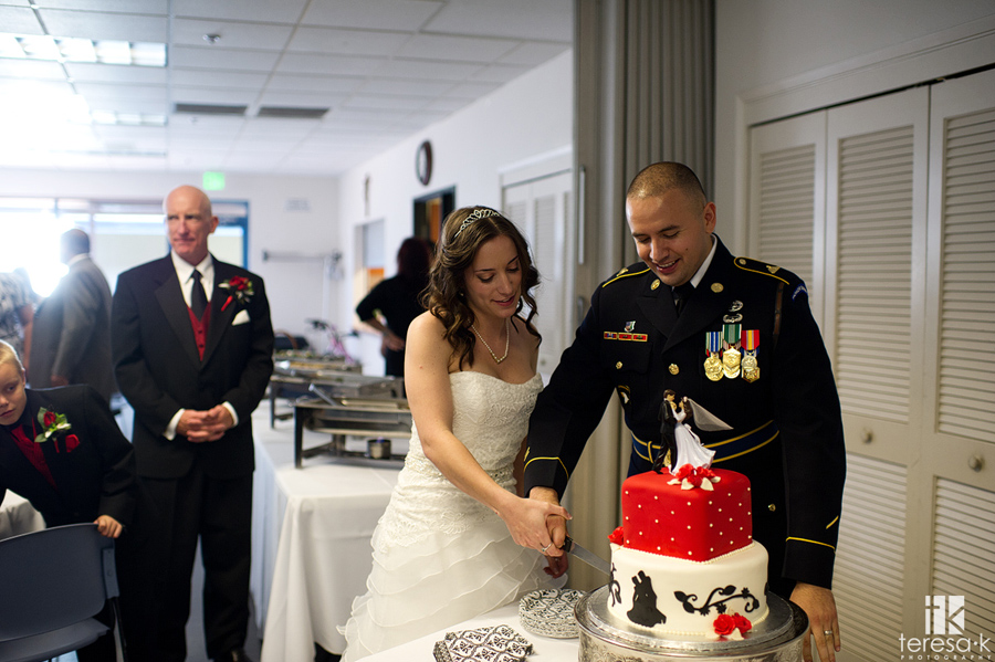 army wedding reception in Folsom