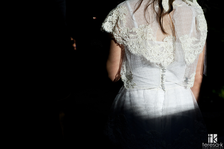 handmade vintage wedding dress