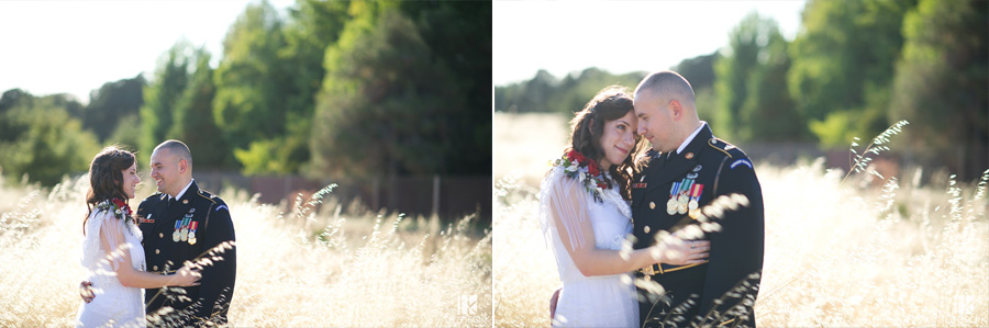 romantic modern vintage dress and army dress blues