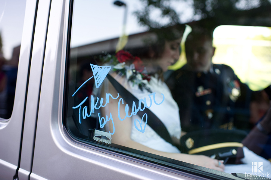 writing on car windows in get away car