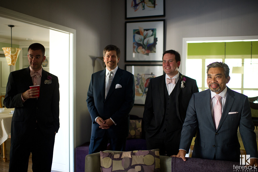 groom and his guys hanging before wedding