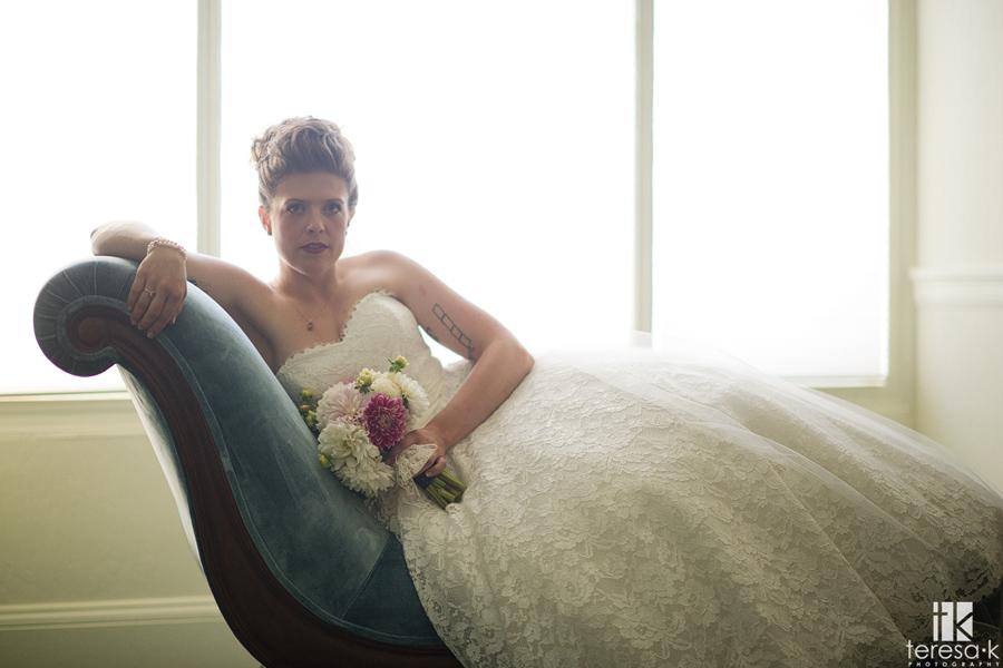 strong back-lit bridal portraits