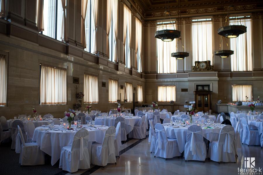 inside of the Sacramento ballroom for a wedding