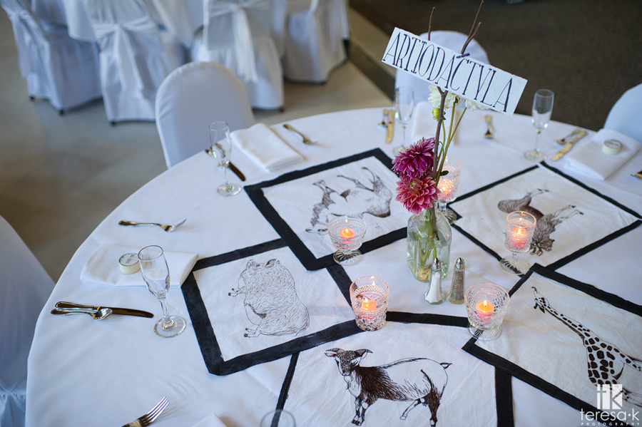 hand drawn table decorations