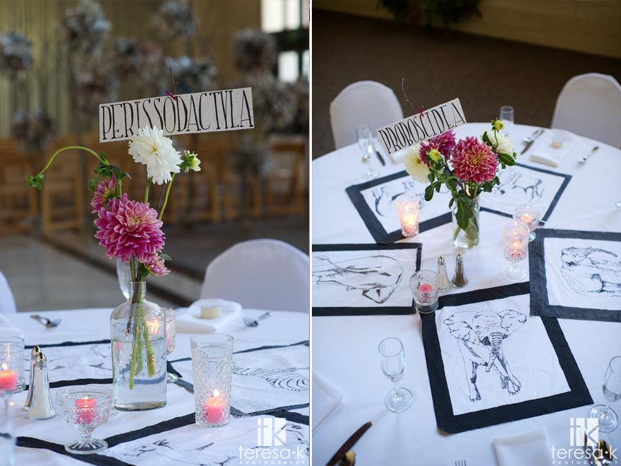 zoo themed wedding