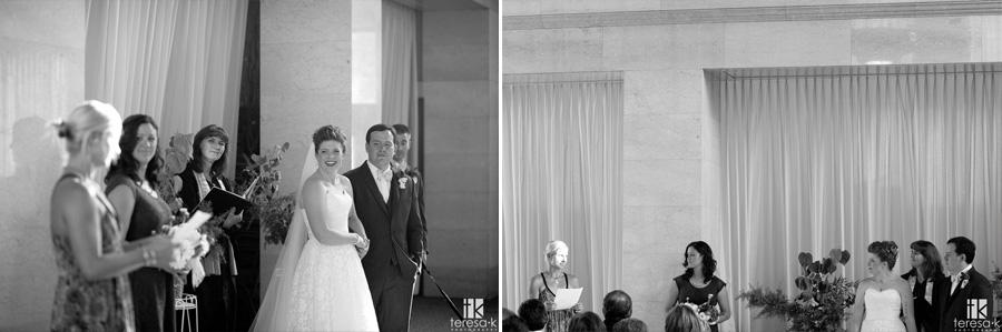 wedding ceremony at the Sacramento grand ballroom