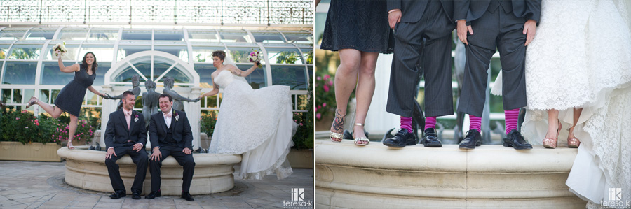 cute socks and shoes at wedding