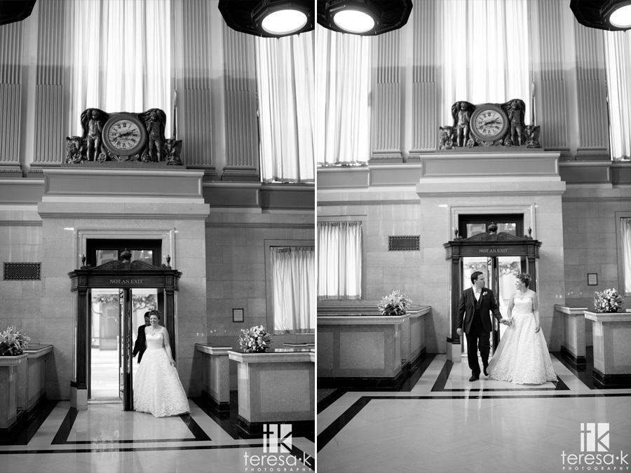 grand entrance at the Sacramento grand ballroom